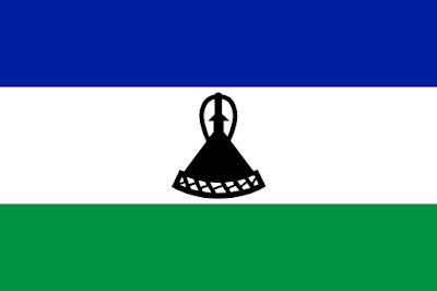 Logo Gambar Bendera Negara Lesotho PNG JPG ukuran 400 px
