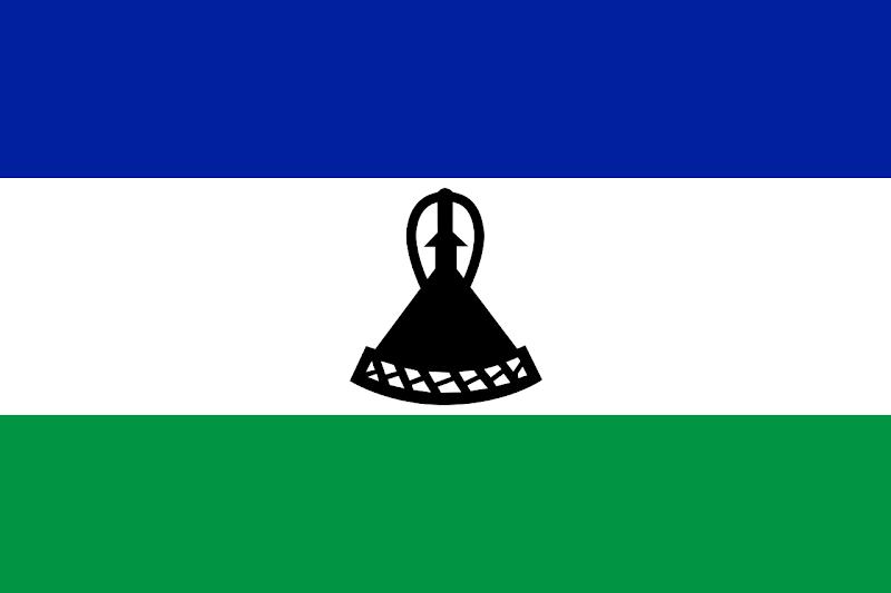 Logo Gambar Bendera Negara Lesotho PNG JPG ukuran 800 px