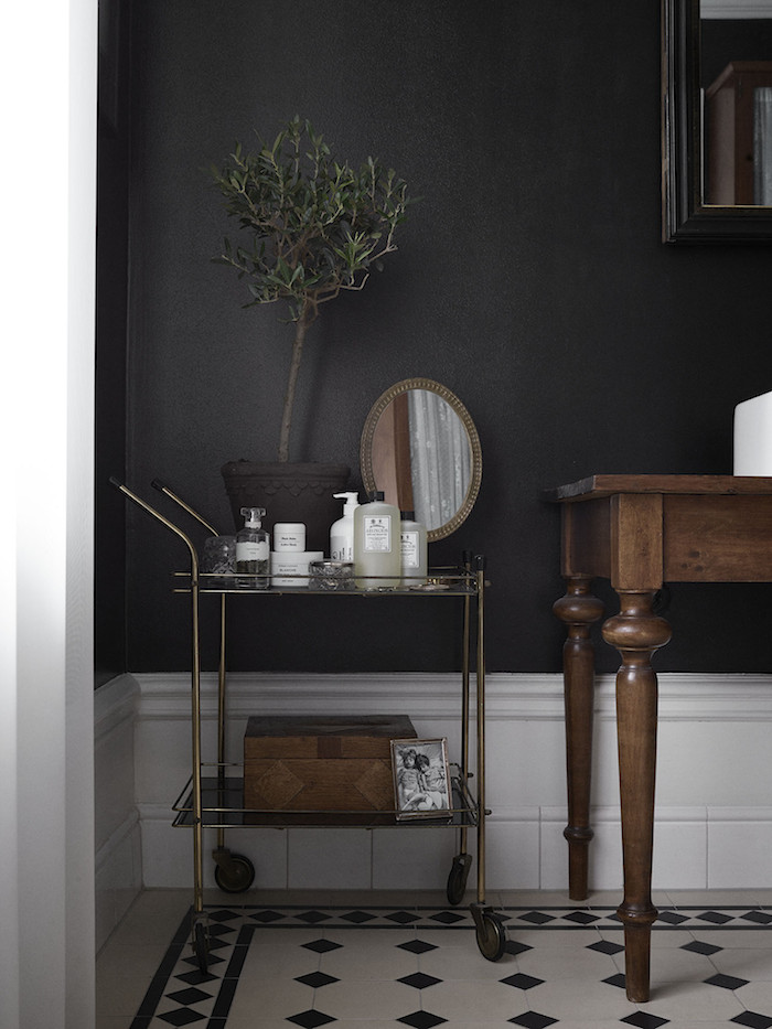 black wall bathroom