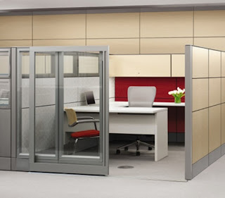 masculine office cubicle decoration plus sliding glass door and immaculate u shaped white desk