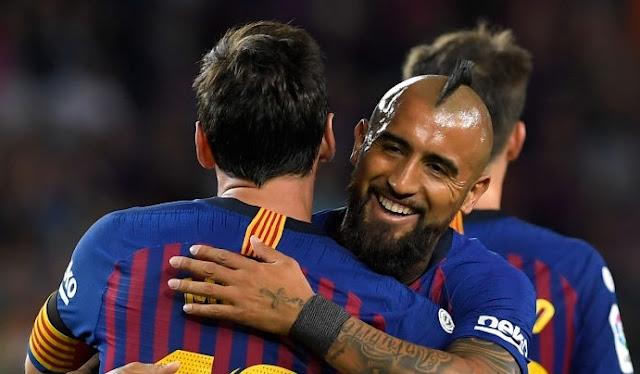 Bersama Barca, Arturo Vidal Lagi-Lagi Bikin Ulah