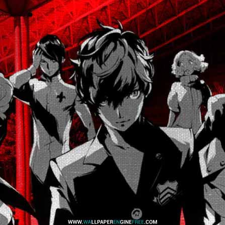 Persona 5 Flag Wallpaper Engine
