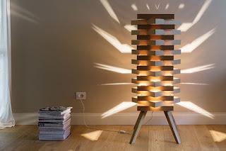 kreasi barang bekas dari kardus, lampu cantik