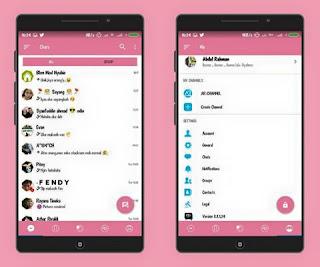 BBM Mod AR-BBM  V7 Base BBM 3.3.1.24 Apk Pink Theme