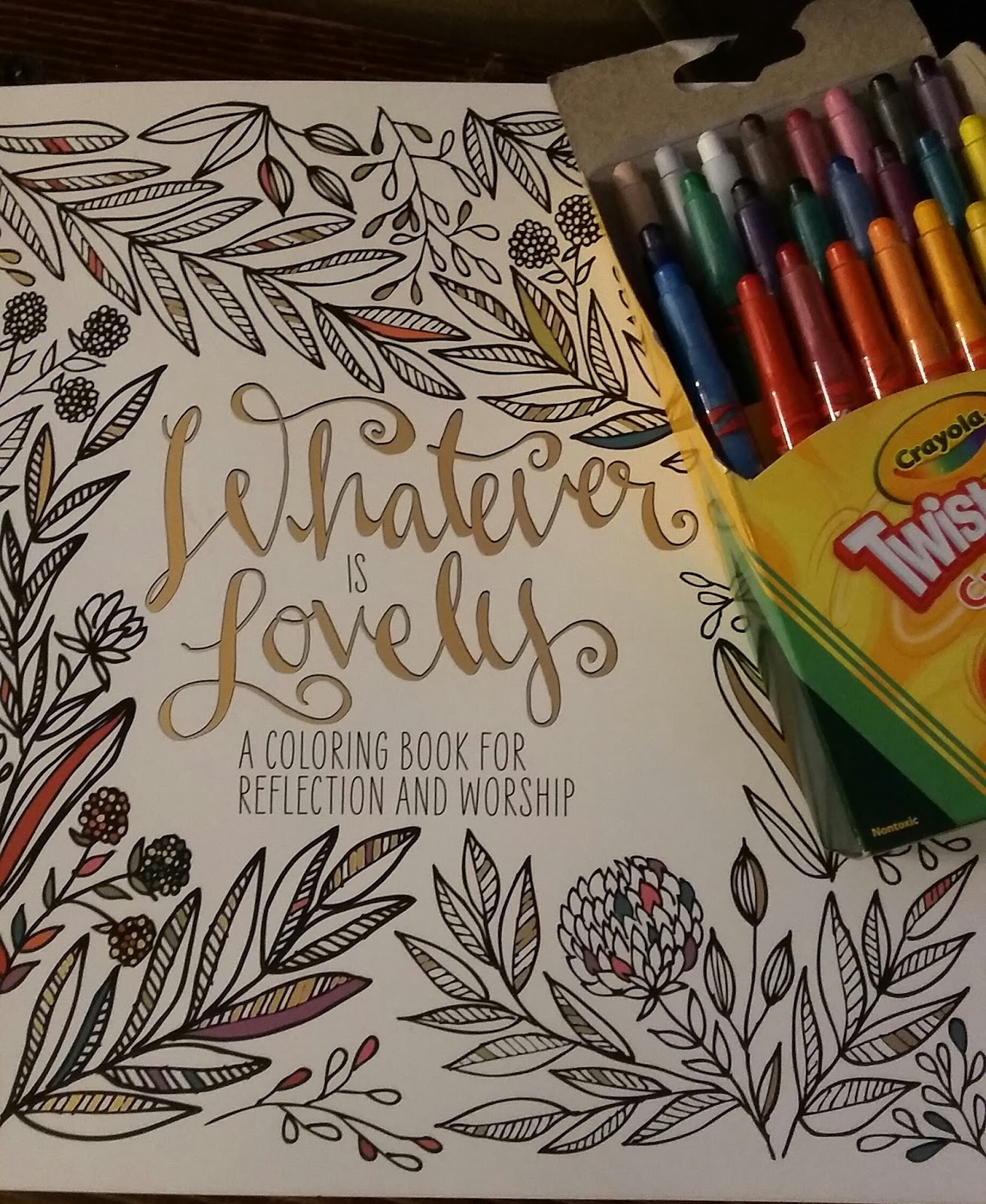 Coloring Book Review Whatever Is Lovely