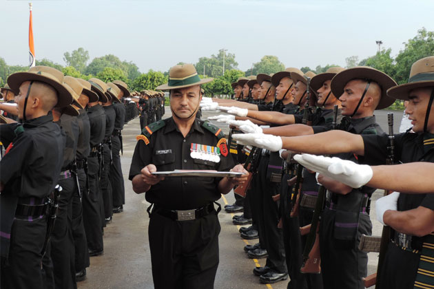 Passing Out Parade of 216 new recruits held at 58 Gorkha Training Centre