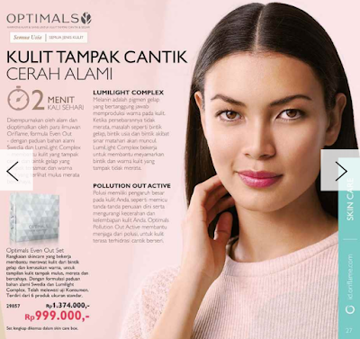 Review Optimals Even Out Skincare Set dari oriflame