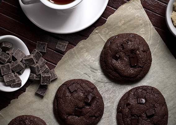 Ultra Dark Chocolate Cookies Recipe