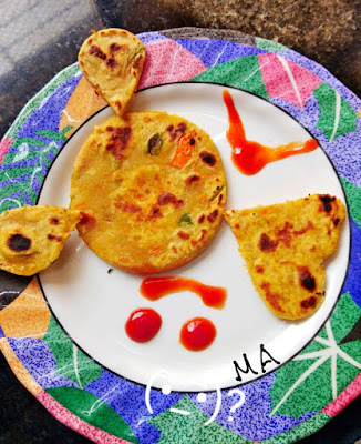 Carrot Methi Multi Grain flat bread for kids