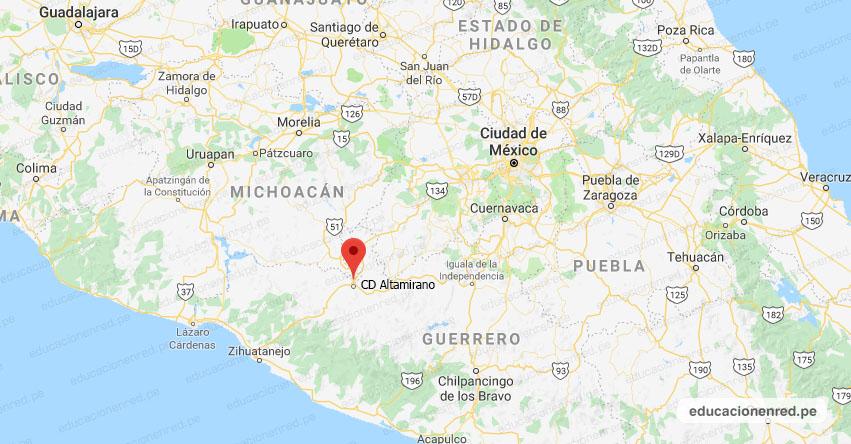 Temblor en México de Magnitud 4.8 (Hoy Jueves 21 Marzo 2019) Sismo Epicentro - CD Altamirano - Guerrero - SSN - www.ssn.unam.mx