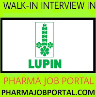 LUPIN Walk In Interview For Production & QC at 2 Dec
