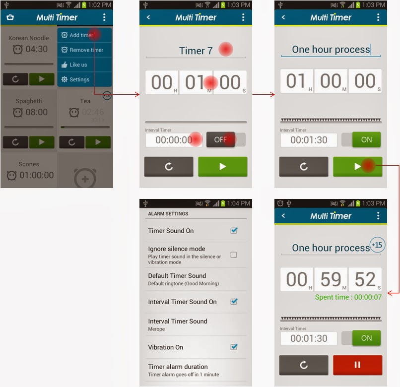 LemonClip: Multi Timer use case (1 min 30 sec interval alarm for one