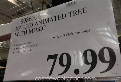 Deal for the LED Animated Tree With Music at Costco