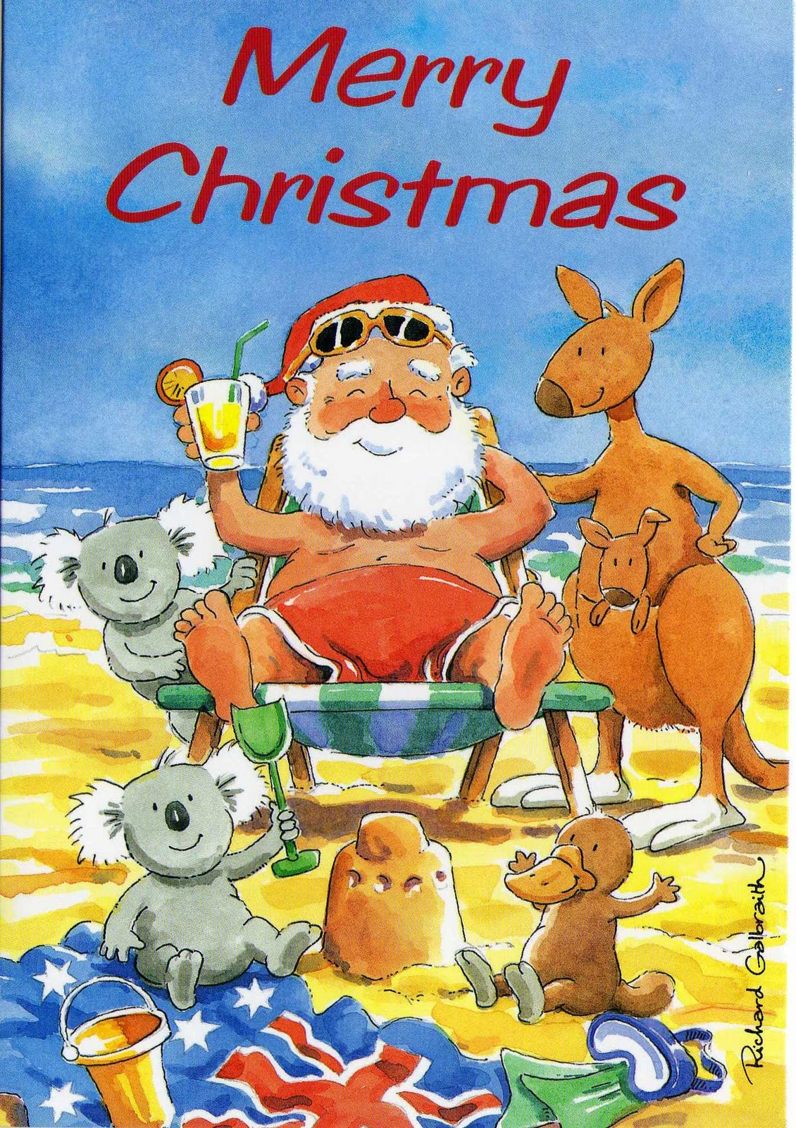 how to say merry christmas in australian