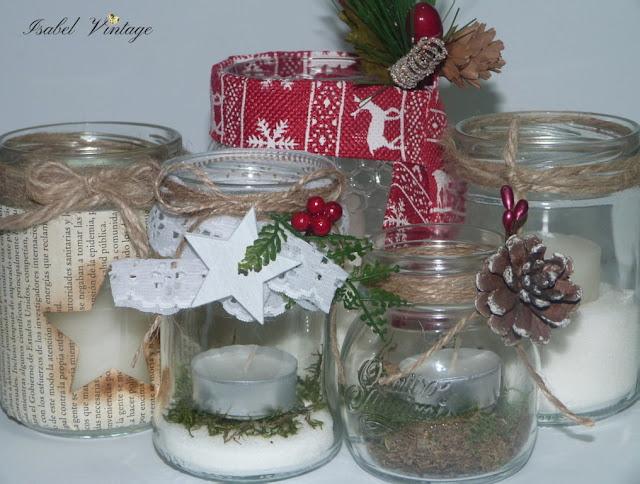 frascos-reciclados-centro-mesa-navidad