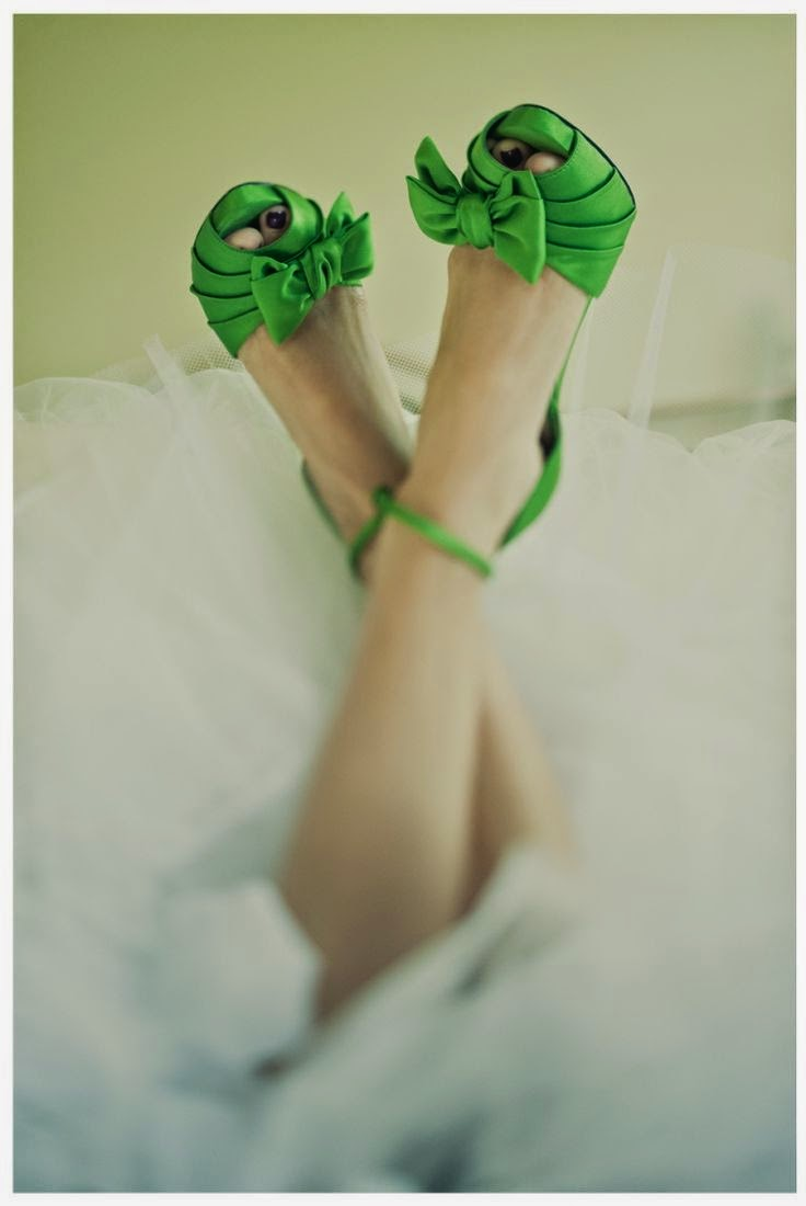 Cute green shoes