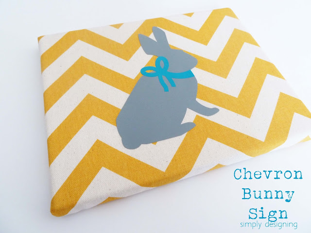 chevron bunny sign 01a 12 Hoppin' Easter Ideas 32