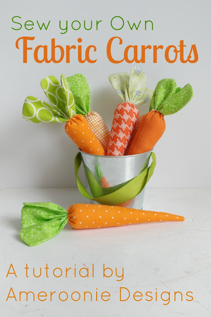 Sew your own Fabric Carrots with this tutorial from Ameroonie Designs