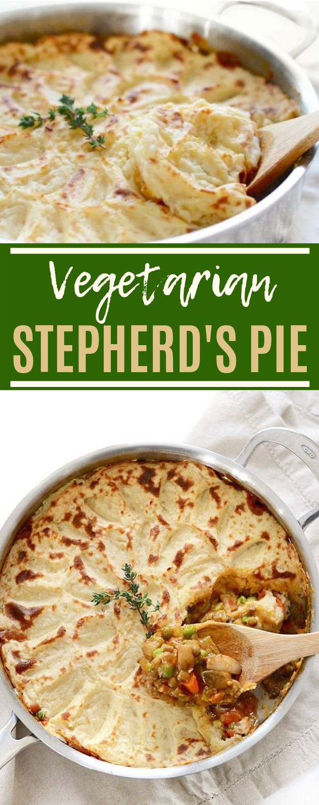 Vegetarian Shepherd's Pie #dinner #vegetarian