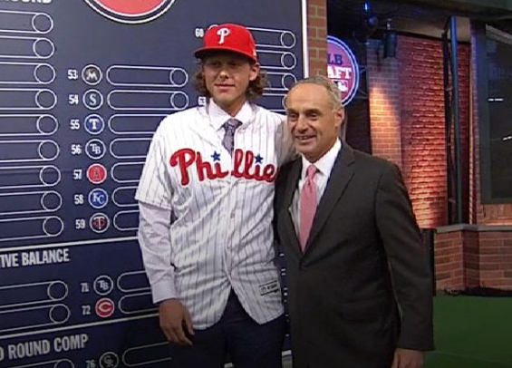 Phillies select Alec Bohm with third pick in draft