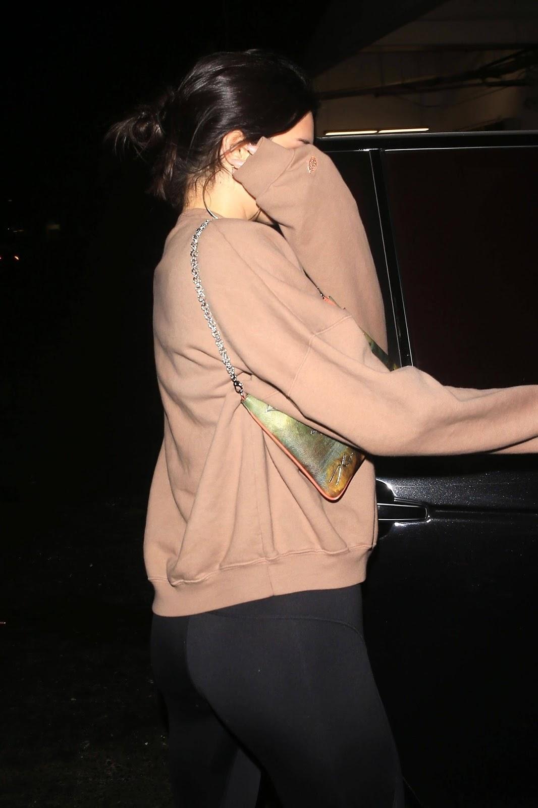 Kendall Jenner in Black Leggings