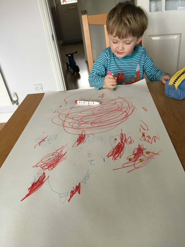 our-weekly-journal-13-feb-2017-toddler-drawing-on-paper-with-red-felt-tip-pen