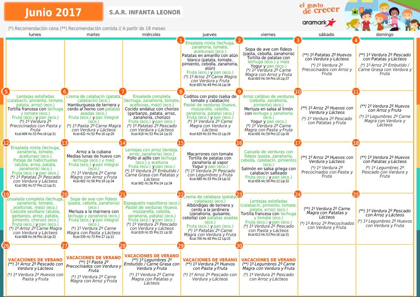 Cole Infanta Leonor : Comedor 2017-2018
