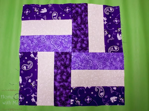 Rail Fence Quilt Block For Kid Size Quillow