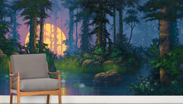 Tapetti Lastenhuoneeseen fantasia tapetti Valokuvatapetti metsän Valokuvatapetti fantasia metsä