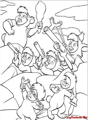 masal kahramanları boyama sayfaları yeni