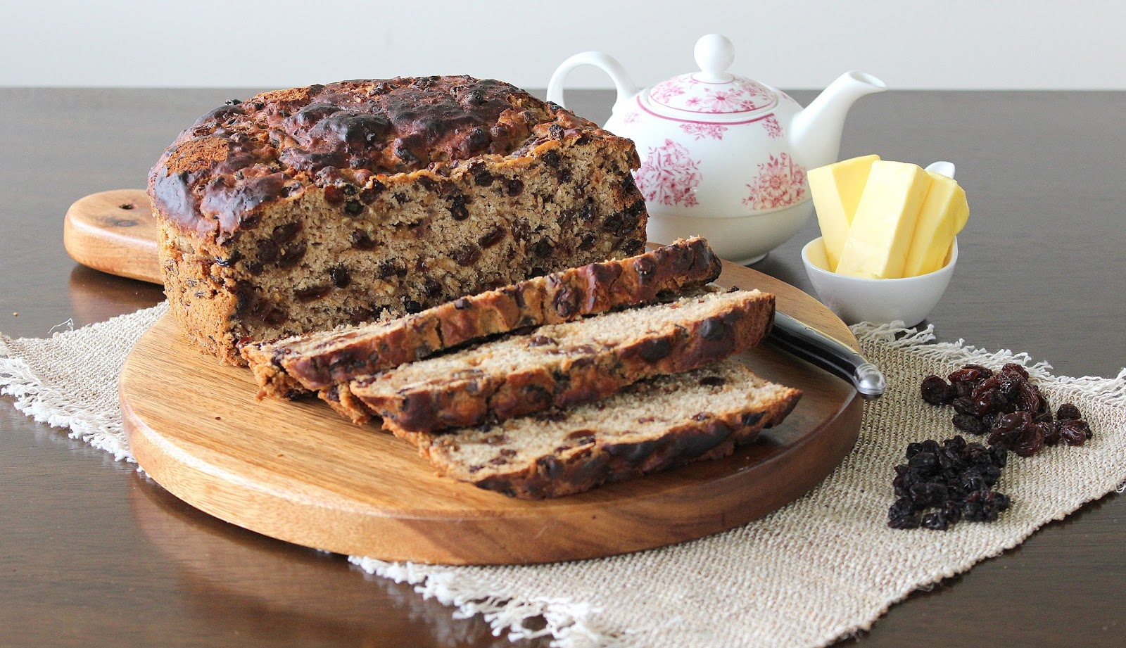 Irish Barmbrack Bread with Honey Butter – Seasons and Suppers  Irish Barmbrack