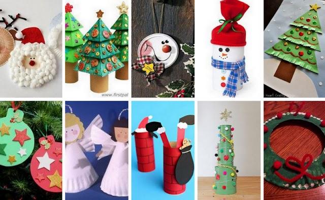 100+ Χριστουγεννιάτικες Κατασκευές για Παιδιά