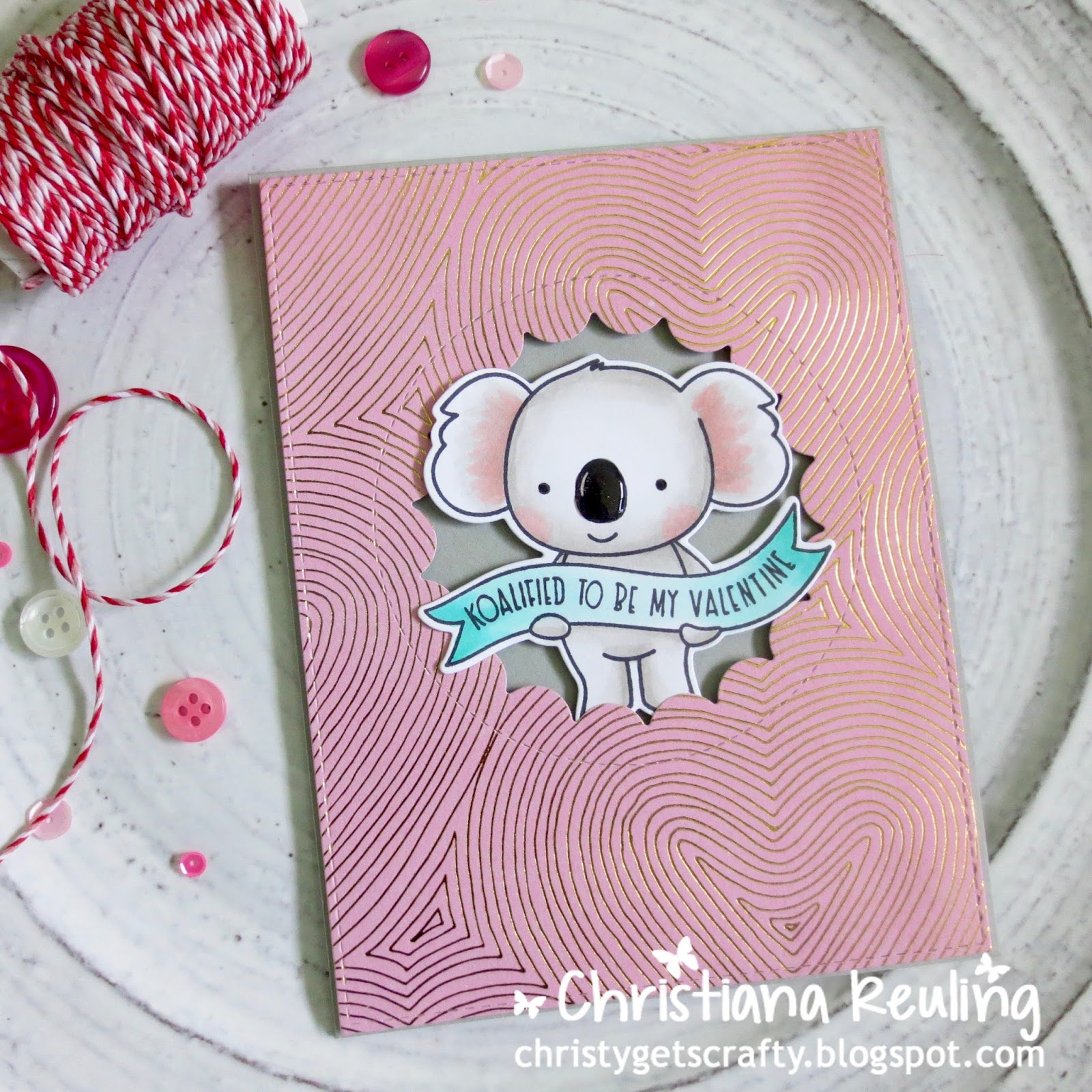 christy gets crafty to a koality friend valentine card series 7