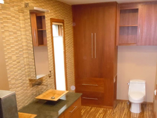 Modern bamboo houses interior and exterior designs for Bamboo bathroom decorating ideas