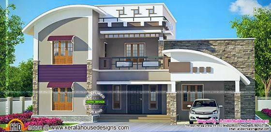 Contemporary mix house design