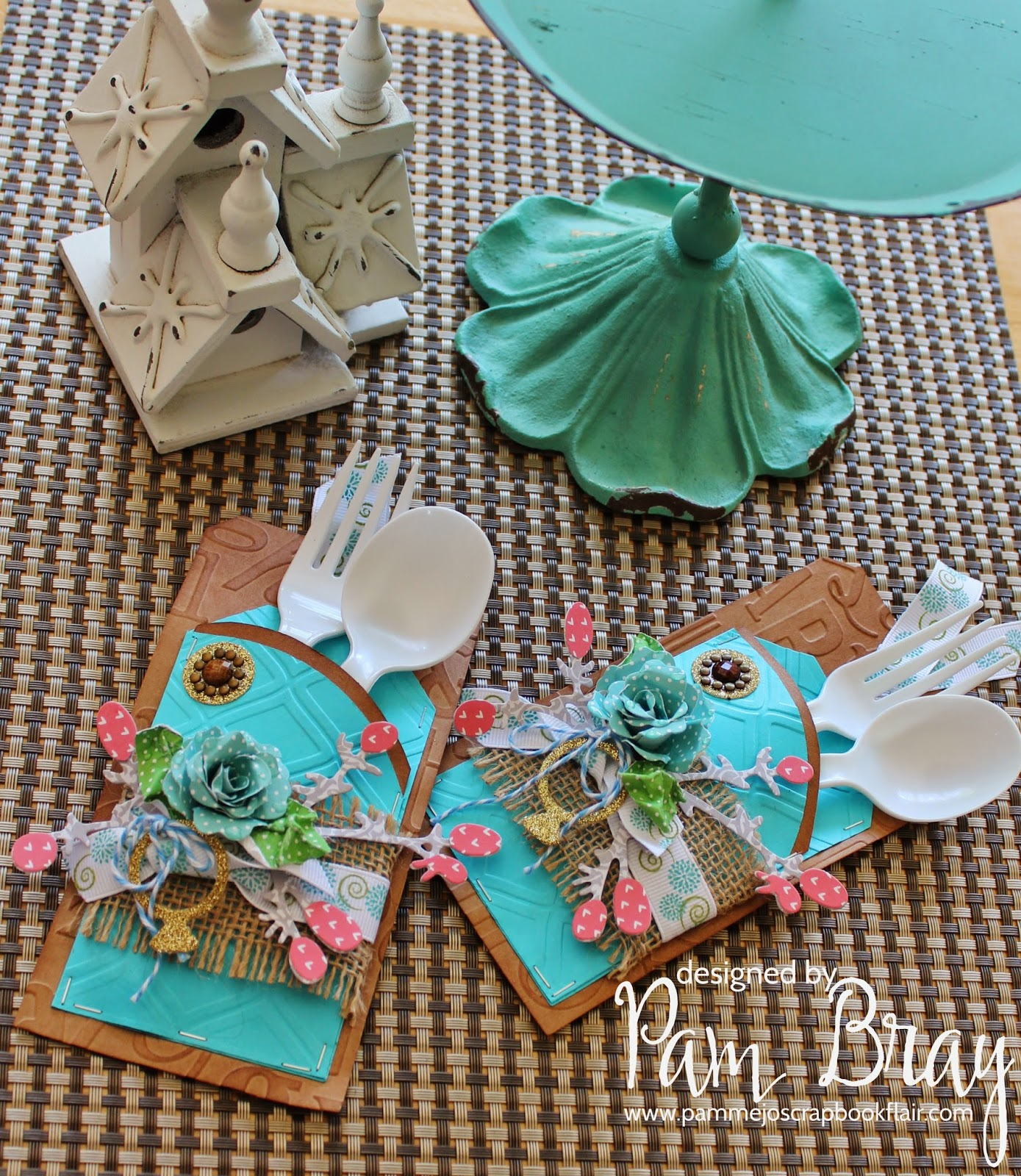 Hi It S Pam Today On The Craftwell Blog Sharing With You A Fun Silverware Holder Idea Using My Cut N Boss Embossing Folders And Along