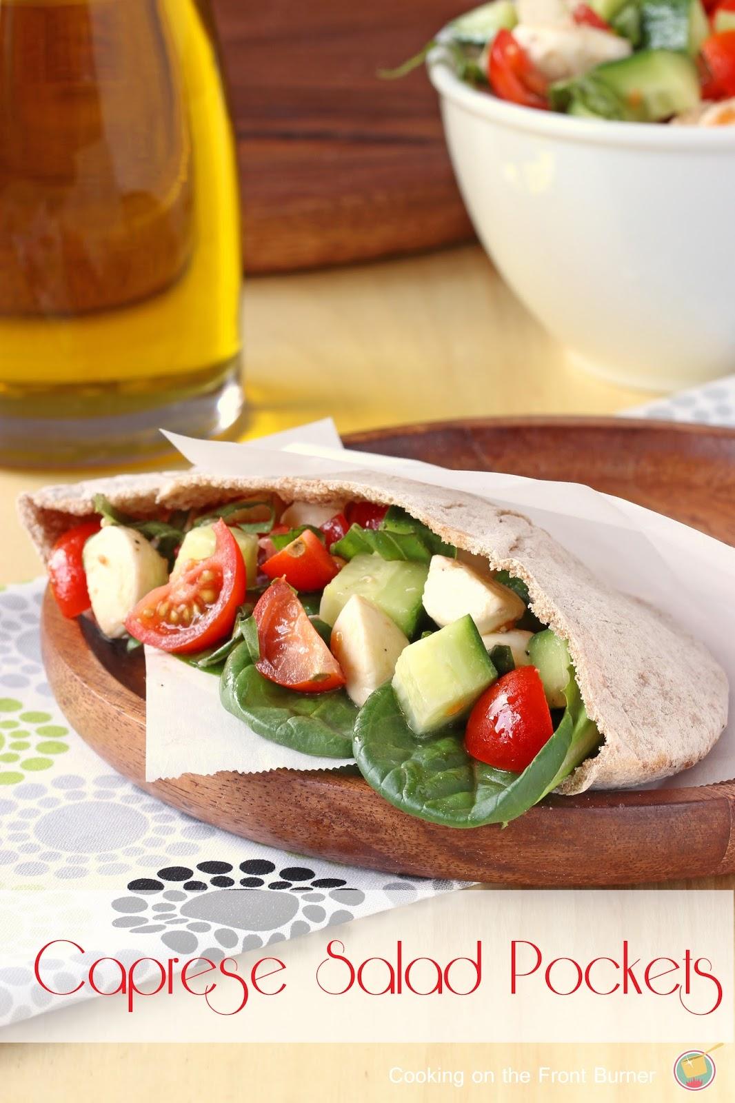 Caprese Salad Pockets   Cooking on the Front Burner