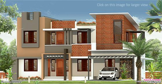 2226 sq.feet flat roof villa