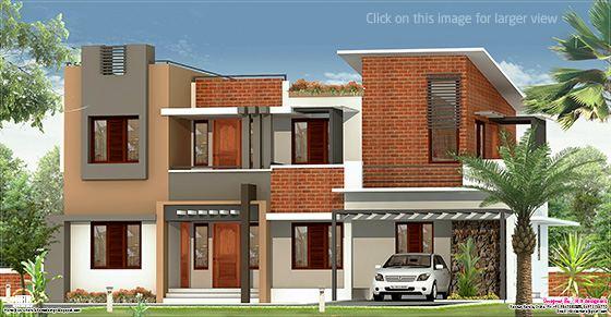 2226 sq.feet flat roof villa