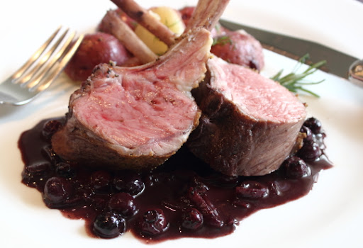 Rack of Lamb with Blueberry Beurre Rouge – With Video