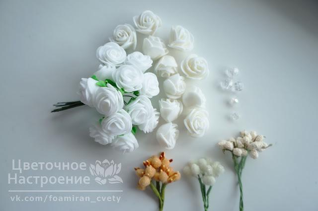 букетики из готовых роз