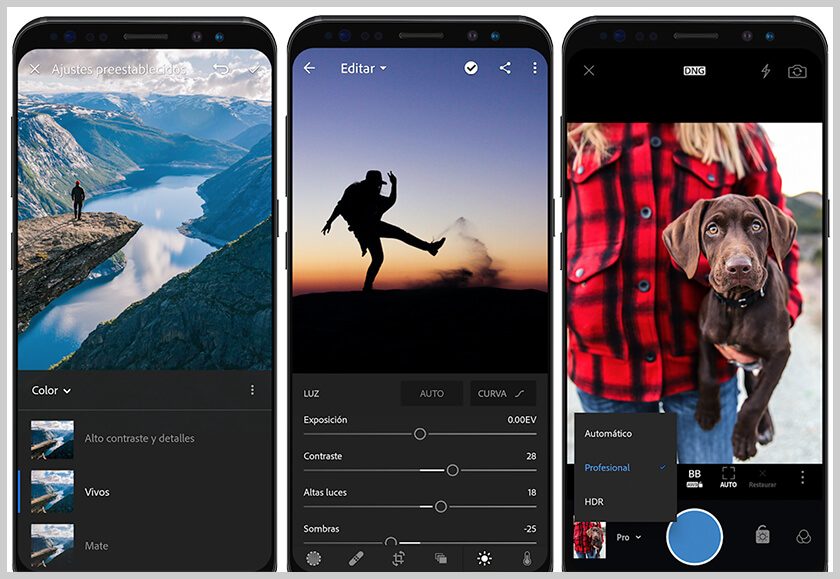 screen adobe photoshop lightroom para anddroid