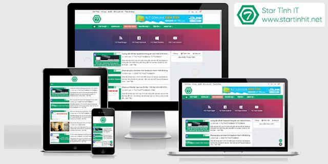 Share template blogspot cá nhân chuẩn seo gần giống template Star Cường IT