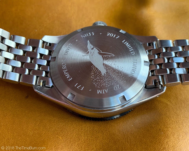 Emperor Diver 2017 WatchUseek F71 Forum Watch caseback
