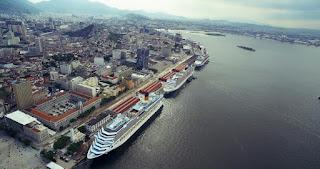 Sete transatlânticos ficam ancorados simultaneamente neste domingo de carnaval