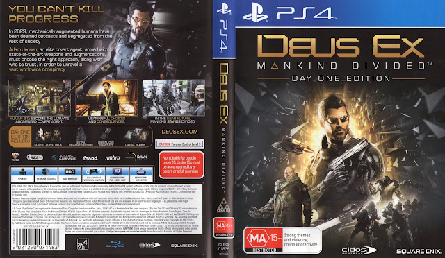 Capa Deus Ex Mankind Divided Day One Edition PS4