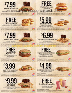 Burger King coupons for march 2017