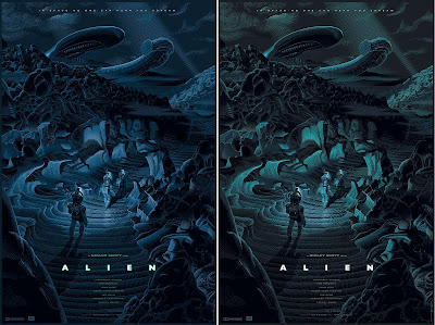 Alien Screen Print by Laurent Durieux x Bottleneck Gallery - Regular Edition & Variant Edition