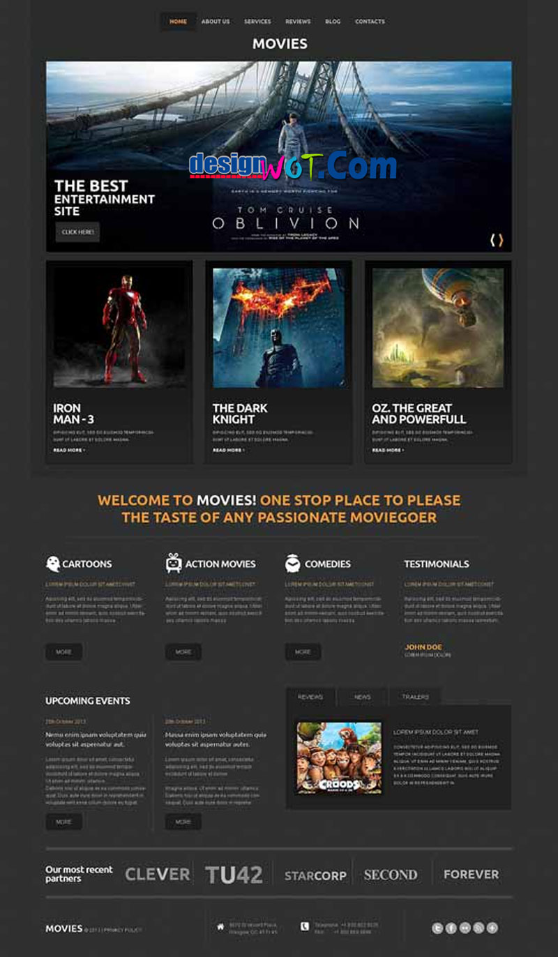 Movie Responsive WordPress Themes