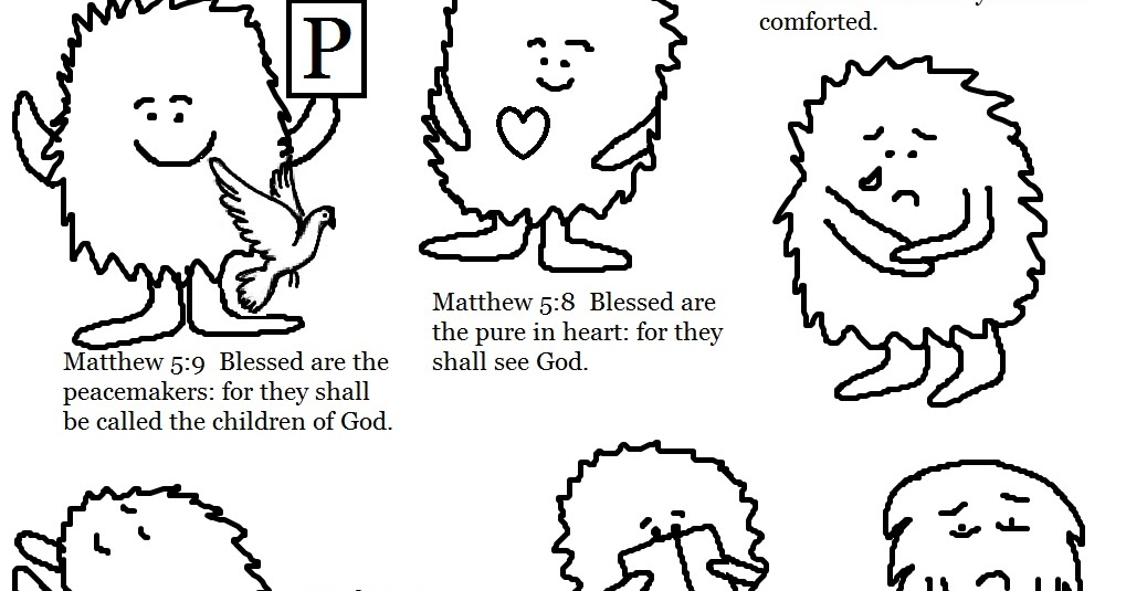 Beatitudes Coloring Pages Coloring Page